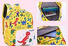 Рюкзак тканевый, с динозаврами, цвет желтый, фото 2