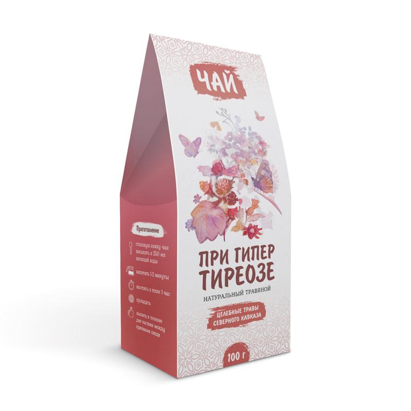 При гипертиреозе (диффузном токсическом зобе, тиреотоксикозе, узловом зобе, Базедовой болезни) (травяной чай)