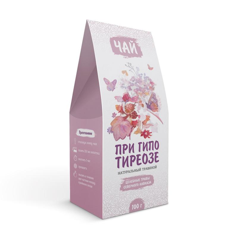 При гипотиреозе (эутироидном диффузном зобе, аутоиммунном тиреоидите, узловом зобе) (травяной чай)