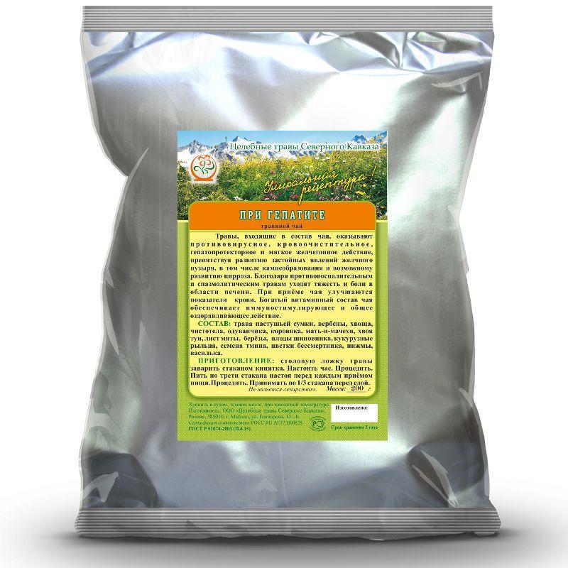 При гепатите (травяной чай)