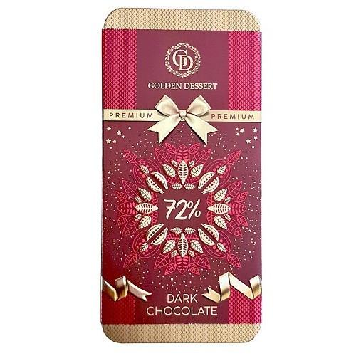 Шоколад горький Golden Dessert 72%, 100 гр