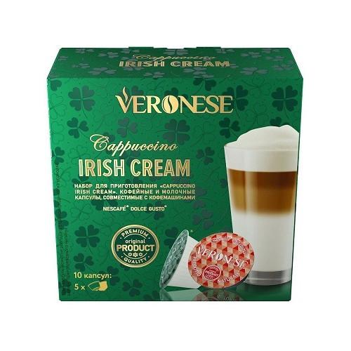 Кофе в капсулах Veronese Cappuccino Irish Cream, для Dolce Gusto, 10 шт