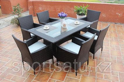 Стол прямоугольный + 6 кресель