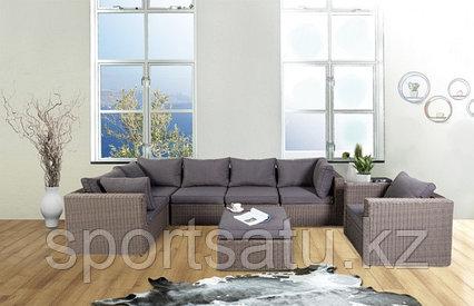 Набор мебели, диван + стол (из искусственного ротанга)