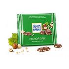 Шоколад молочный Ritter Sport с дробленным лесным орехом, 100 гр
