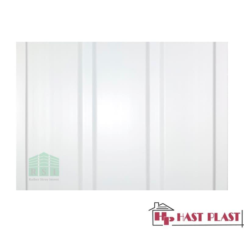 """Потолочная ПВХ панель """"Hast Plast"""" 3-ех полосная, 6 метров (белый)"""