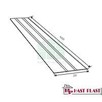 """Потолочная ПВХ панель """"Hast Plast"""" 3-ех полосная, 6 метров (белый), фото 2"""