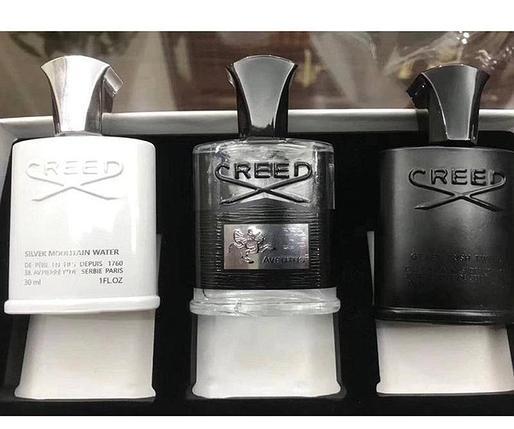 Парфюмированный набор creed, 3 по 30 мл, крид, silver mountain water, aventus, irish tweed, фото 2