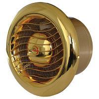 Вытяжка для ванной диаметр 100 мм Mmotors ММ 100/110 круглый 110 м3/ч обратный клапан/золото 24 карата