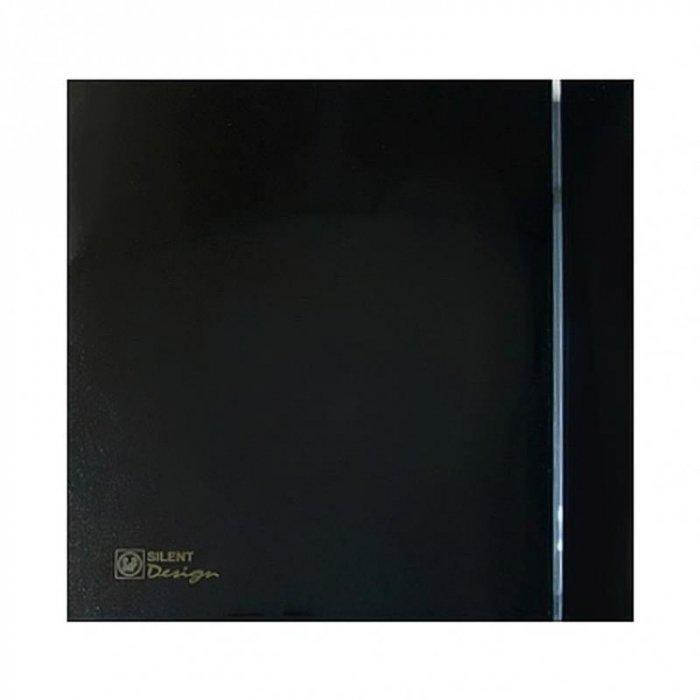 Вытяжка для ванной диаметр 100 мм Soler & Palau SILENT-100 CRZ BLACK DESIGN-4C