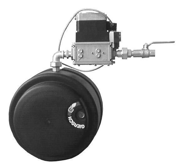 Газовая горелка Giersch RG20-M-L-N кВт-40-120, KE15 1/2