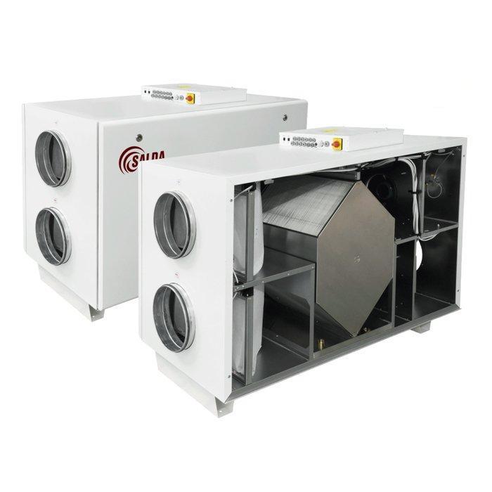 Приточно-вытяжная вентиляционная установка с рекуператором Salda RIS 2200 HE EKO 3.0