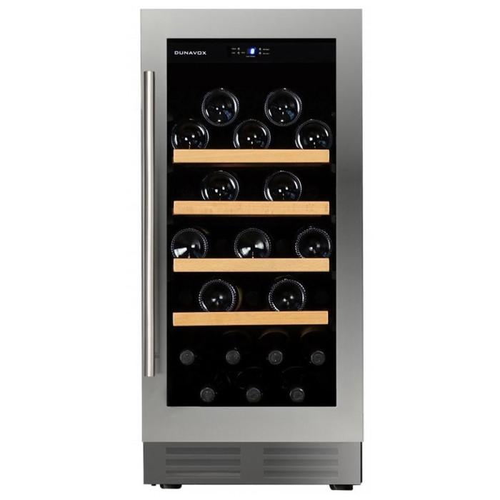 Встраиваемый винный шкаф 22-50 бутылок Dunavox DAU-32.83SS