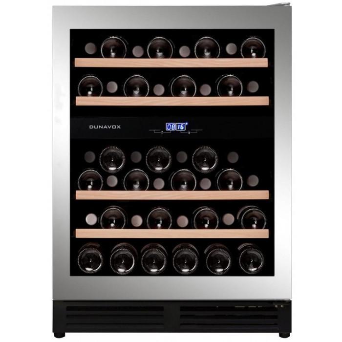 Встраиваемый винный шкаф 22-50 бутылок Dunavox DAU-45.125DSS.TO