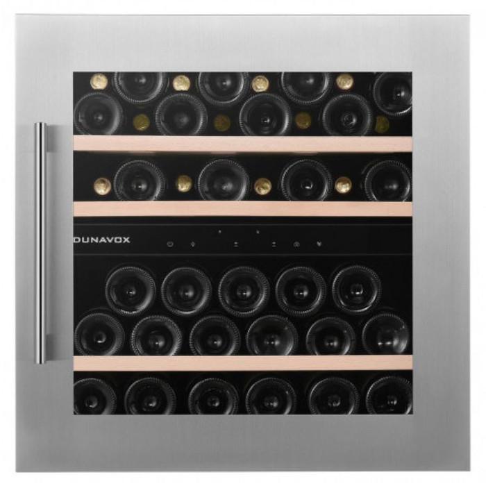 Встраиваемый винный шкаф 22-50 бутылок Dunavox DAB-41.83DSS