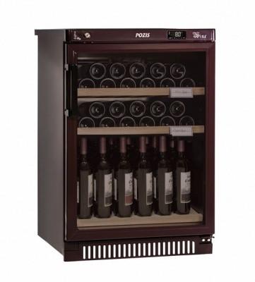 Отдельностоящий винный шкаф 22-50 бутылок Pozis ШВ-39 вишневый