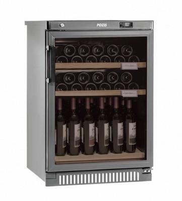 Отдельностоящий винный шкаф 22-50 бутылок Pozis ШВ-39 серибристый