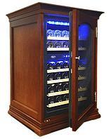 Отдельностоящий винный шкаф 22-50 бутылок Cold Vine C34-KBF2 (W-cherry)