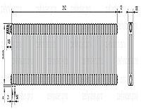 Стальной трубчатый радиатор 3-колончатый Zehnder Charleston 3057/47 TL