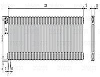 Стальной трубчатый радиатор 3-колончатый Zehnder Charleston 3057/48 TL