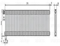 Стальной трубчатый радиатор 3-колончатый Zehnder Charleston 3057/46 TL