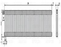 Стальной трубчатый радиатор 3-колончатый Zehnder Charleston 3057/54 TL