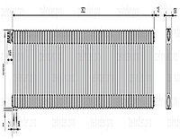 Стальной трубчатый радиатор 3-колончатый Zehnder Charleston 3057/57 TL