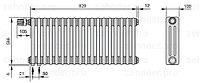 Стальной трубчатый радиатор 3-колончатый Zehnder Completto 3057/18