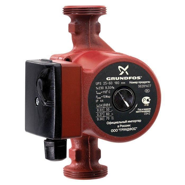 Насос для отопления Grundfos UPS25-60 180 1x230V 50Hz 9H RU