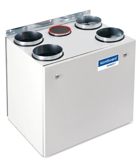Приточно-вытяжная вентиляционная установка 500 Komfovent Domekt-R-450-V (L/A F7/M5 ePM1 55/ePM10 50)