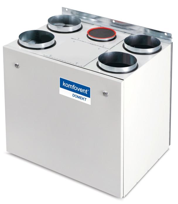 Приточно-вытяжная вентиляционная установка 500 Komfovent Domekt-R-400-V (L/A F7/M5 ePM1 55/ePM10 50)