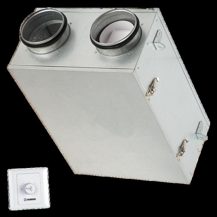 Компактная приточно-вытяжная установка с рекуперацией тепла Blauberg KOMFORT Ultra D 105 A