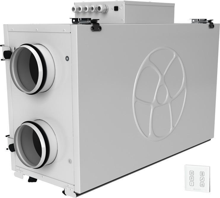 Приточно-вытяжная вентиляционная установка 500 Blauberg KOMFORT Ultra EC L 350-H S14 white