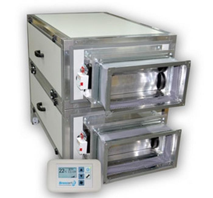 Приточно-вытяжная вентиляционная установка Breezart 6000 Aqua RR