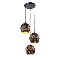 Винтажный лофт подвесной светильник SY2079-3BK BLACK E27 (TEKAVIZE)1sh