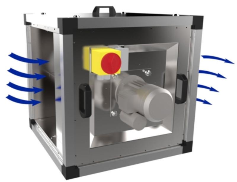 Жаростойкий (кухонный) вентилятор Systemair MUB/T-S 100 630D4 IE3