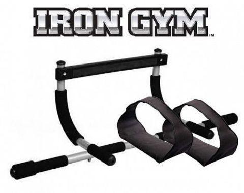 Тренажер-турник в дверной проем «Iron Gym II» + поддерживающие ремни, фото 2