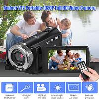 """Видеокамера цифровая компактная Andoer V12 {3"""" LCD, пульт, 1080p, 16Х зум + режим ночного видения}"""
