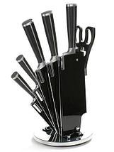 Набор стальных ножей с литыми рукоятями на подставке HATCHEN {8 предметов} (Синий), фото 3
