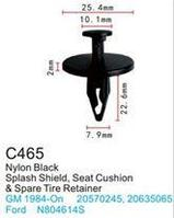 Forsage Клипса для крепления внутренней обшивки а/м GM пластиковая (100шт/уп.) Forsage клипса C0465(C465)(GM)
