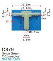 Forsage Клипса для крепления внутренней обшивки а/м GM пластиковая (100шт/уп.) Forsage клипса F-C879( GM )