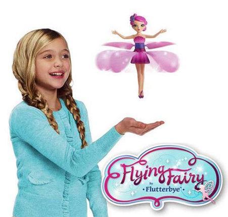 Игрушка с подсветкой и музыкой «Летающая фея» (Голубой), фото 2