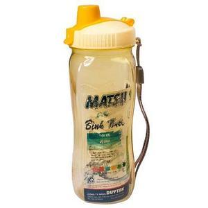 Бутылка питьевая для воды с поилкой MATSU [350, 500, 1000 мл] (Желтый / 500 мл)
