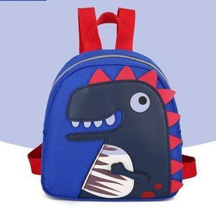 Рюкзак тканевый, с динозавром, цвет синий