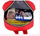 Рюкзак тканевый, с динозавром, цвет красный, фото 3