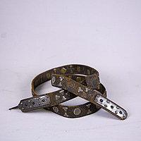 Кисе-белдик национальный Казахский охотничий пояс. Кожа, шитье, металл, ковка, серебро, насечка серебро