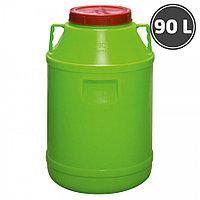 Бак для воды пластиковый с крышкой 90л