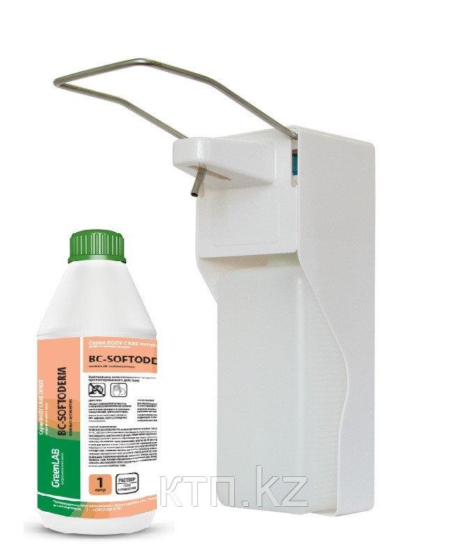 Диспенсер для антисептика  с локтевым дозатором, белый