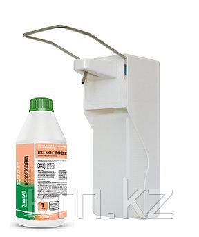 Санитайзер для антисептика  с локтевым дозатором, белый