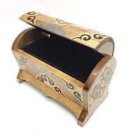 Шкатулка-сундук деревянная Казахские национальные сувениры